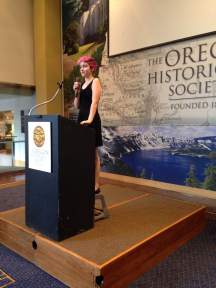 Student presenting at The Oregon Historical Society